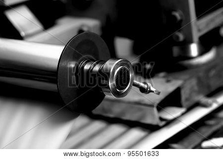 Metal Bearing In Industrial Machine