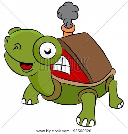 An image of a mobile turtle always on the move.