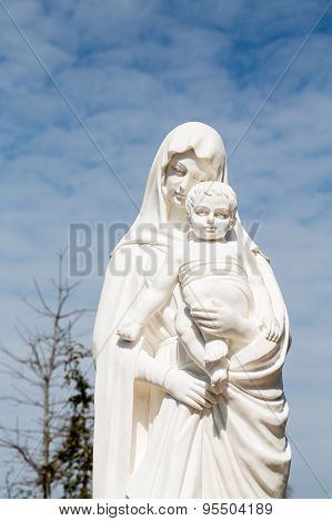 Statue Of Madonna And Christ