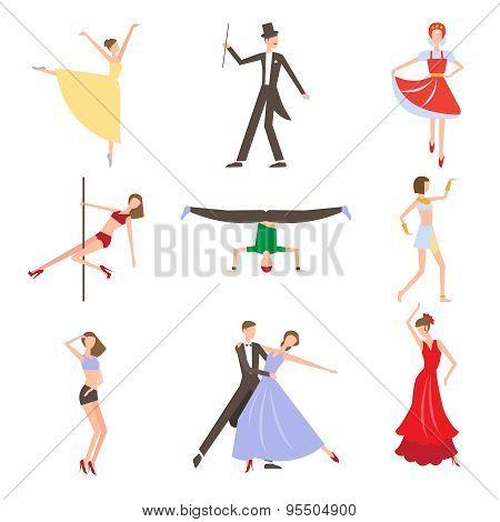 Dancing Styles Flat design