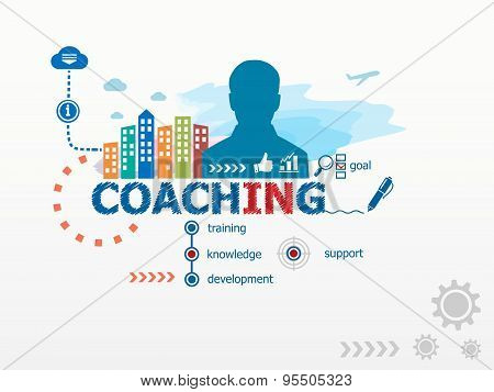 Coaching Concept And Business Man.