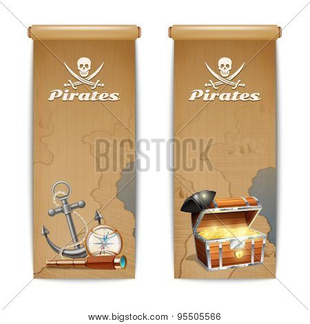 Pirate Banner Vertical