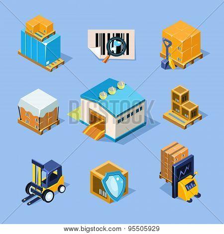 Vector Warehouse Equipment