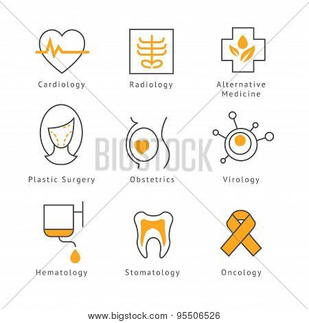 Colored Medical Health Care Icons