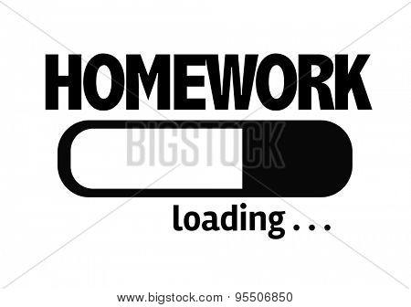 Progress Bar Loading with the text: Homework