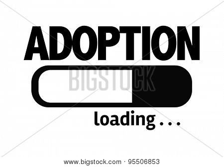 Progress Bar Loading with the text: Adoption