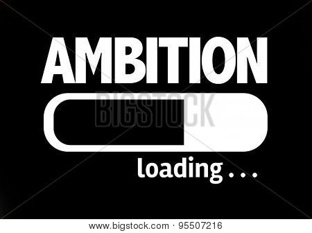 Progress Bar Loading with the text: Ambition
