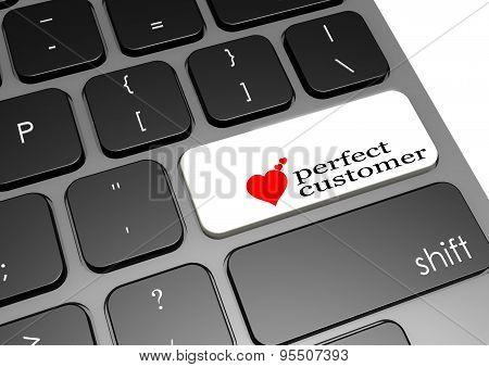 Perfect Customer Black Keyboard