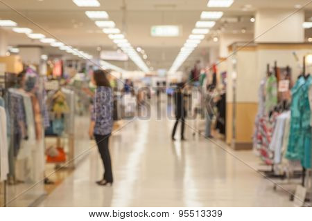Abstract background of Department store interior shallow depth of focus.