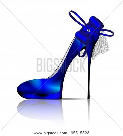 large blue shoe