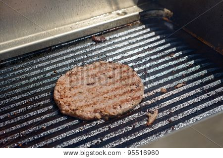 Succulent Grilled Steak On Hot Grill