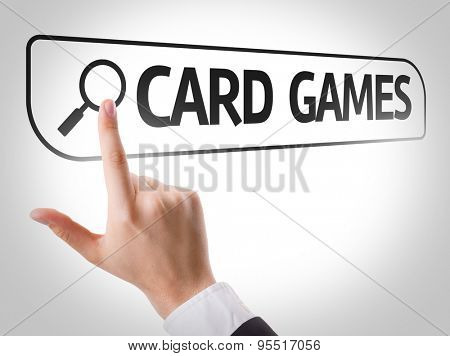 Card Games written in search bar on virtual screen