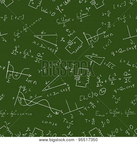 Maths seamless pattern Vector 2