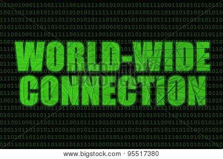 Internet Words, World-wide Connection With Metal Web Overlay