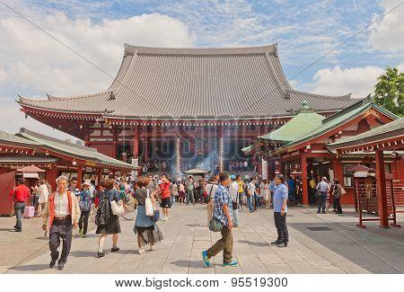 Main Hall (hondo) Of Senso-ji Temple, Tokyo, Japan