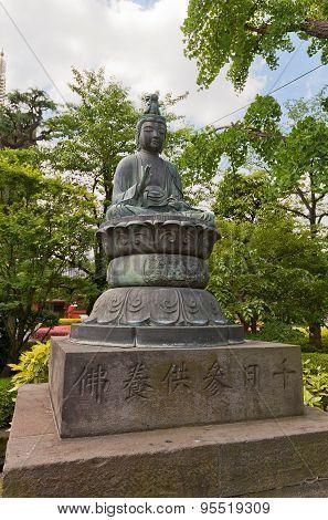 Shokannon Buddha Statue Of Senso-ji Temple, Tokyo, Japan