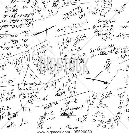 Math Background. Vector Hand Drawn Elements.