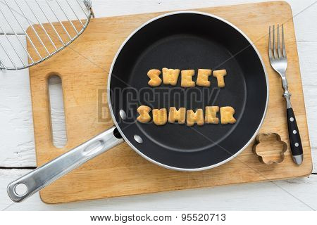 Letter Cookies Word Sweet Summer And Kitchen Utensils