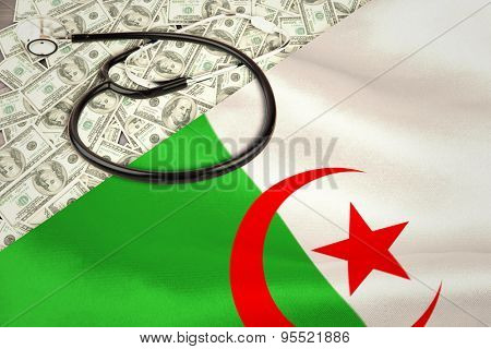 stethoscope against algerian flag