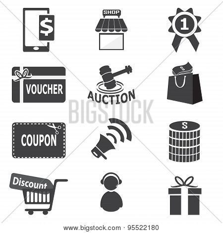 Shopping, Business Icon