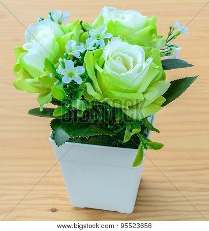 Fake Bouquet Flower In Vase