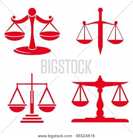 Scale of justice symbol