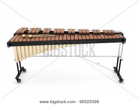 Xylophone On A White