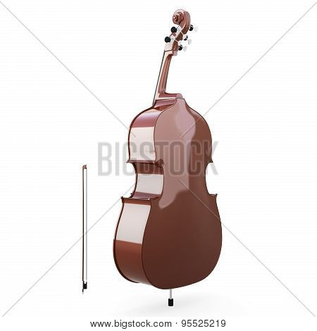Double-bass Back View