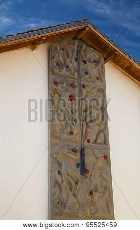 Climbing wall closeup