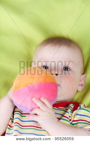 Little boy with soft ball