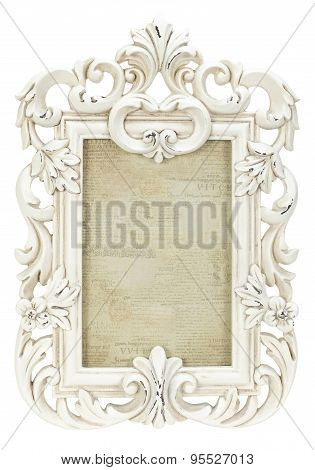 Vintage Plaster Frame isolated on white