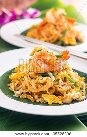 Pad Thai with Shrimps , Thai Food