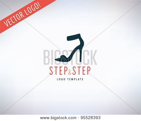 Shoes vector logo icon. Style, Cloth or Shop and Dress symbol. Stocks design elements