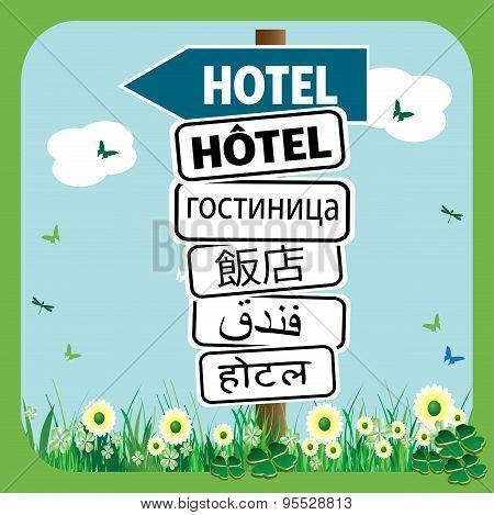 Hotel signpost