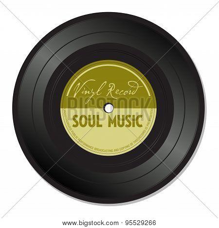Soul music vinyl record