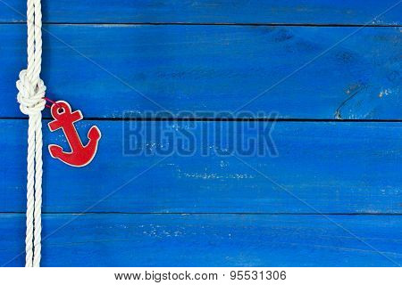 Nautical sign with red anchor