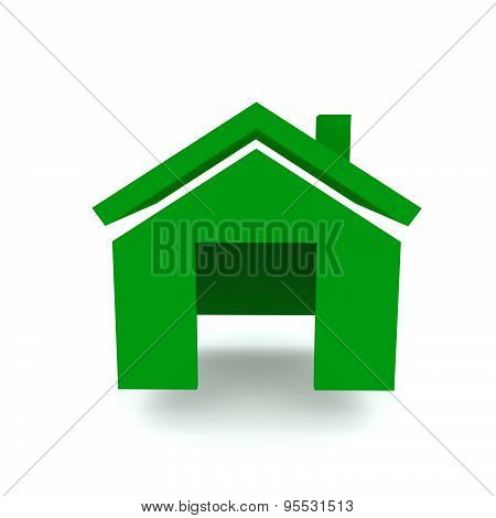 Home Green Color Front View