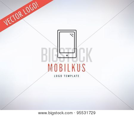 Mobile Vector Logo. Online, Money or Commerce and Computer symbol. Stock Design Element.
