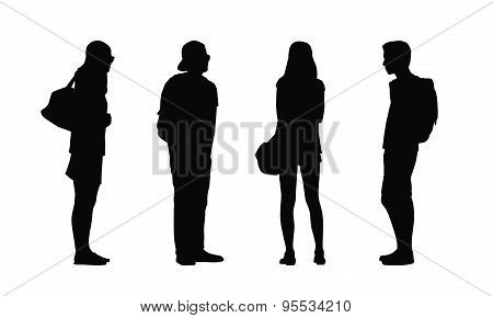 People Standing Outdoor Silhouettes Set 34