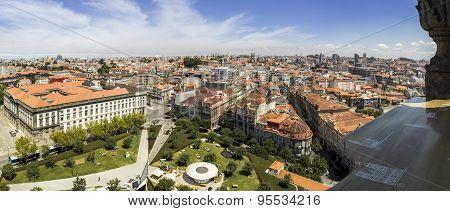 PORTO, PORTUGAL - JULY 04, 2015: Panoramic View Of Porto Cityscape, Unesco World Heritage Site
