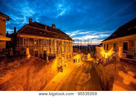 Night view on Sibiu city