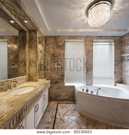 luxury bathroom interior and decoration