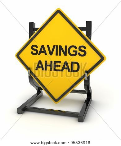 Road Sign - Savings Ahead