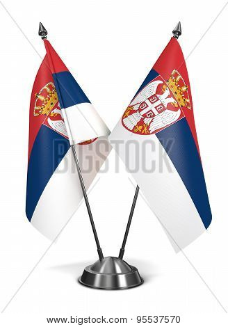 Serbia - Miniature Flags.
