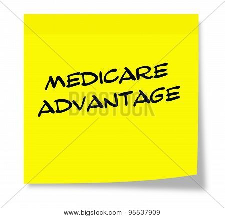 Medicare Advantage Yellow Sticky Note