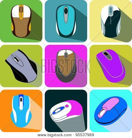 collection computer mouse icon