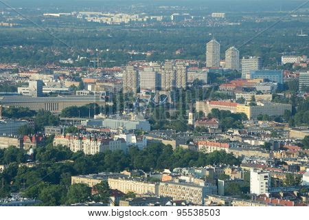 Aerial View Of Wroclaw City.
