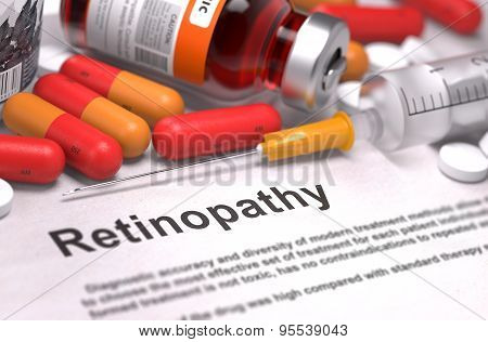 Retinopathy Diagnosis. Medical Concept.