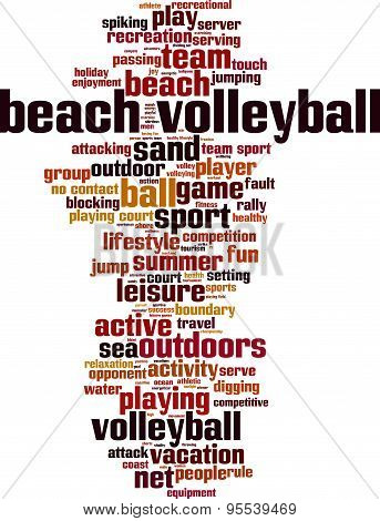 Beach Volleyball Word Cloud