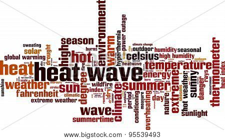 Heat Wave Word Cloud